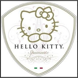 Hello Kitty Wine label